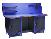Верстак профессиональный PROFFI-M 3МД ТПС1Т-Э  со стальной столешницей 6мм, нагрузкой до 1000кг