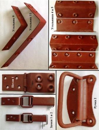 Арматура, фурнитура для деревянной тары, ящиков ГОСТ 16561-76: