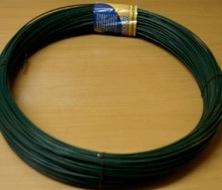 Проволока стальная низкоуглеродистая с ПВХ покрытием ТУ 14-4-1813-97 темно-зеленый RAL 6005 (уп. 5