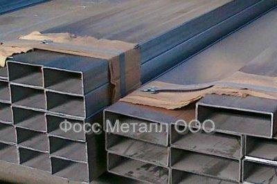 Трубы сварные прямоугольного сечения, матовые, сталь AISI 316L