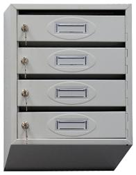 Почтовый ящик 4-х секционный ЯПР-4 (ПО) Стандарт с окошком для номера
