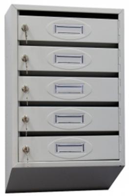 Почтовый ящик 5-ти секционный ЯПР-5 (ПО) Стандарт с окошком для номера