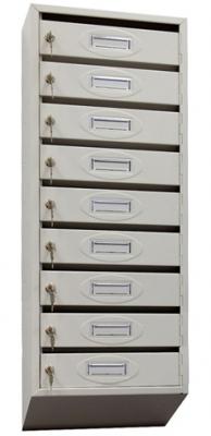 Почтовый ящик 9-ти секционный ЯПР-9 (ПО) Стандарт с окошком для номера