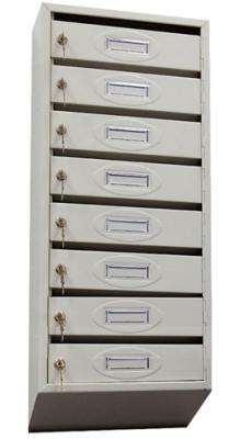 Почтовый ящик 8-ми секционный ЯПР-8 (ПО) Стандарт с окошком для номера