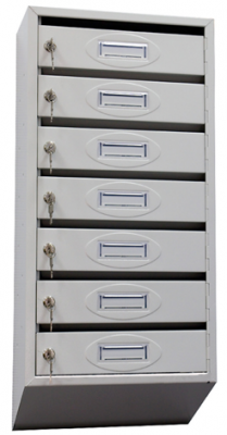 Почтовый ящик 7-ми секционный ЯПР-7 (ПО) Стандарт с окошком для номера