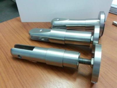 Нержавеющая нога опорная (опора) STEELKA® standard для изготовления и монтажа сантехнических кабин и