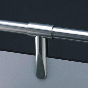 Верхний стыковочный держатель нержавеющий для монтажа кабин душевых и перегородок hpl