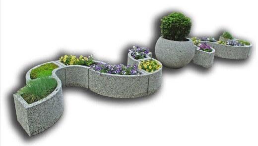 Цветочный бетонный комплекс