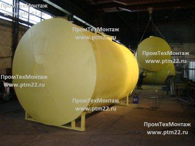 Резервуар горизонтальный стальной одностенный 25 м3