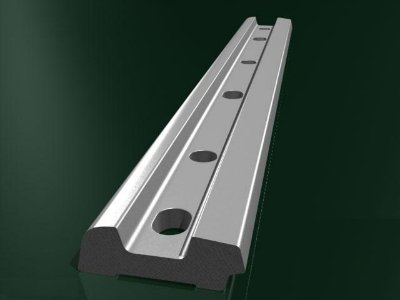 Накладка 1Р-65, сталь М54  6 отверстий