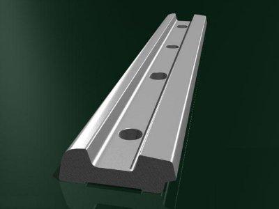 Накладка 2Р-65, сталь М54  4 отверстия