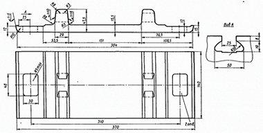 Подкладка КБ-65 б/у ГОСТ 16277-93