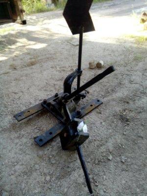 Механизм ручной переводной 1709 с тягами для крепления к стрелочному переводу